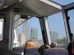 Entering Canary Wharf (Our destination)