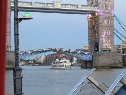 Whilst waiting for the clipper we were lucky enough to see Tower Bridge go up!